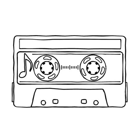 glam rock: Characters pop music in the form of compact cassettes.