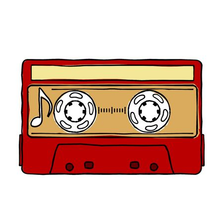 arts culture and entertainment: Characters pop music in the form of compact cassettes.