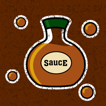 sweet sauce: Soy sauce in a bottle