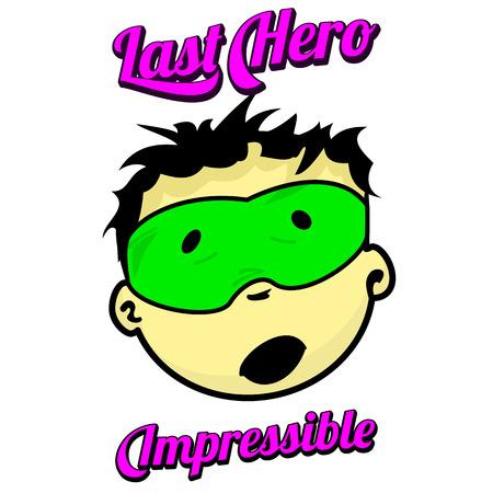少年に扮したスーパー ヒーローは、さまざまな感情を示しています。