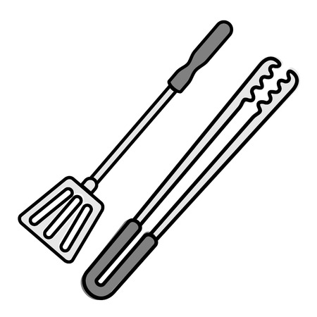 tongs: Tongs and shovel barbecue Illustration