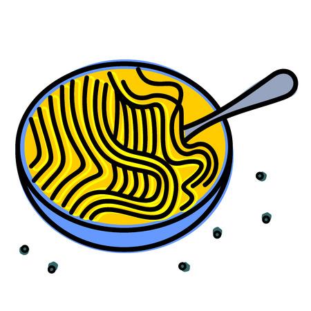 noodle: Cup noodle Illustration