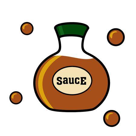 soy sauce: Soy sauce in a bottle