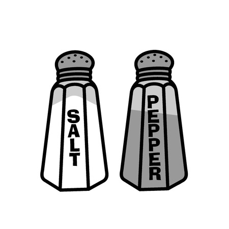 Glass salt and pepper Vectores