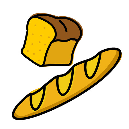 bread loaf: half a loaf of bread loaf and