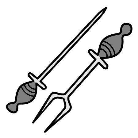 sharpening: Sharpener knife and fork for barbecue
