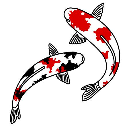 carpa: Vector de imagen de la carpa koi japon�s Vectores