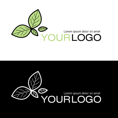 Logo with leaves Vector