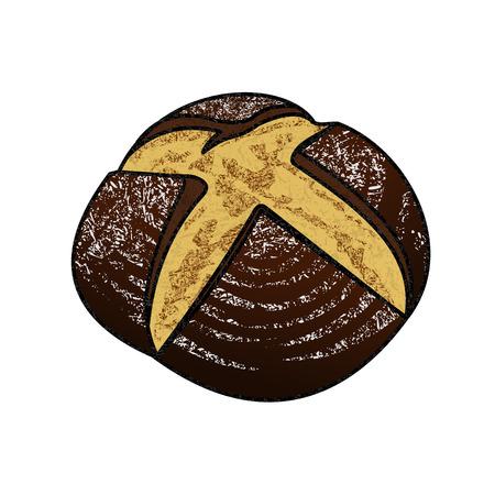 freshly: Freshly baked rye bread
