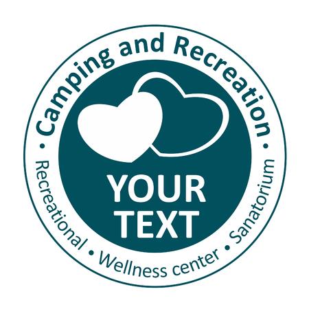 recreational climbing: Icons for recreation, camping, wellness center, sanatorium