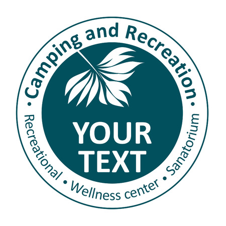 ricreazione: Icone per la ricreazione, campeggio, centro benessere, casa di cura Vettoriali