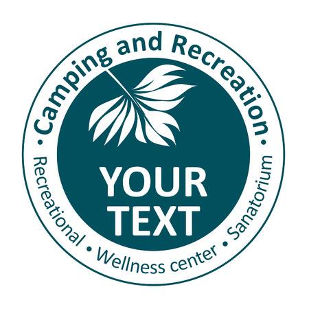 Icons for recreation, camping, wellness center, sanatorium