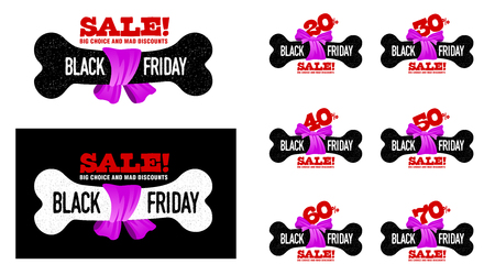 grouped: Black Friday sales tag. vector, grouped for easy editing. Illustration
