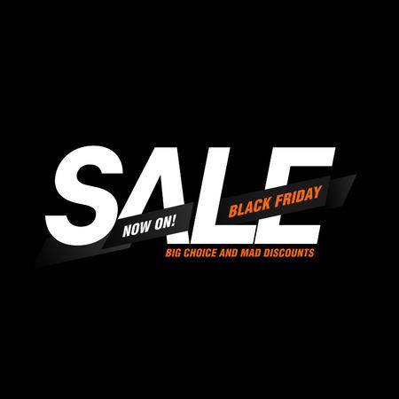 Black Friday sales tag.