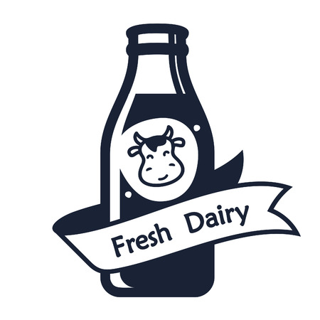 skim: Set of labels and icons for milk