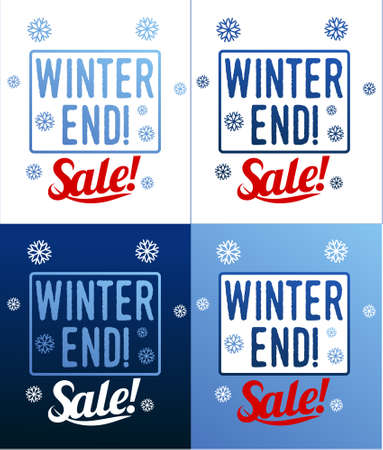 stiker: Winter sale background with label, stiker and banner. Sale sticker. Big Winter sale. Christmas sale label. New year sale. Vector illustration