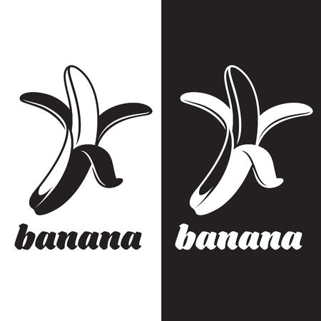 peeled: Vector Cartoon Yellow Peeled Banana. Illustration