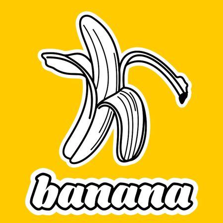 Vector Cartoon gelbe abgezogene Bananen.