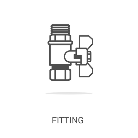 water supply: Vector icon fitting. Spare parts and household appliances for the kitchen, gas supply, water supply modern home.