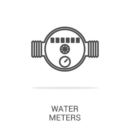 gas meter: Vector icon water meter. Spare parts and household appliances for the kitchen, gas supply, water supply modern home. Illustration
