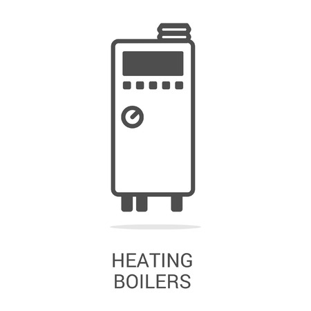 gas boiler: Vector icon heating boilers. Spare parts and household appliances for the kitchen, gas supply, water supply modern home.