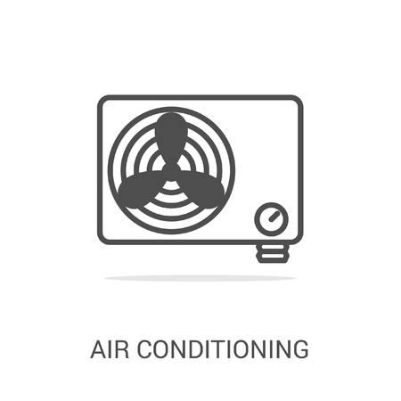 gas supply: Vector icon air conditioning. Spare parts and household appliances for the kitchen, gas supply, water supply modern home.