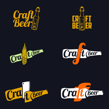 ale: Vintage craft beer, alcohol, ale, brewery, bar, shop emblems and label