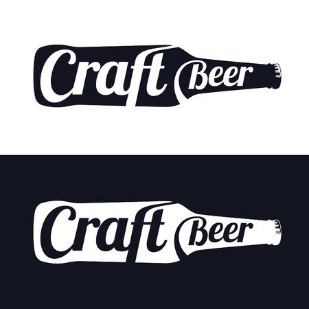 overhead: Vintage craft beer brewery, bar, shop emblems and  labels Illustration