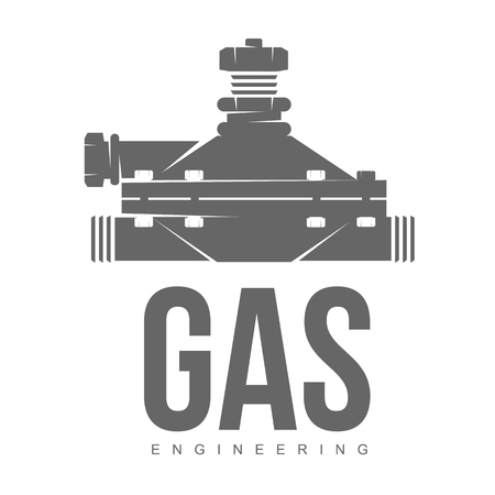 gas burners: vector logo water, gas engineering, plumbing service. Web graphics, banners, advertisements, brochures, business templates. Isolated on a white background Illustration
