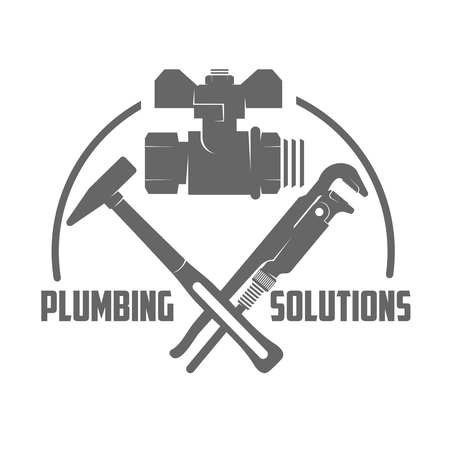 flexible business: vector logo water, gas engineering, plumbing service. Web graphics, banners, advertisements, brochures, business templates. Isolated on a white background Illustration
