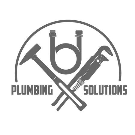 Vektor-Logo Wasser, Gastechnik, Sanitär-Service. Web-Grafiken, Banner, Anzeigen, Broschüren, Business-Vorlagen. Isoliert auf einem weißen Hintergrund Illustration