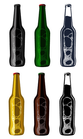 porter: Vector set of vintage craft beer, alcohol, ale, brewery, bar, shop emblems and label. Branding Identity Corporate logo design template. Isolated on a white background. Illustration