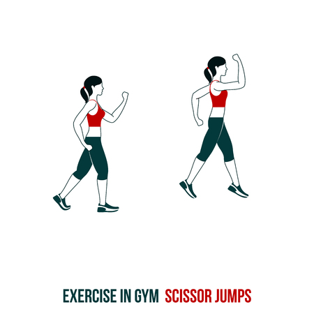 Fitness, Aerobic and workout exercise in gym. Vector set of workout icons in flat style isolated on white background. Stock Vector - 64928345