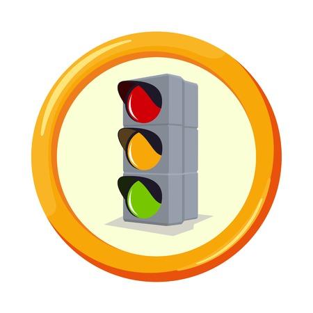 Vector flache Versicherung Icons. Die Pflichtversicherung Haftpflicht. Rund gelben Rahmen. Werbung, Schilder, Aufkleber, Banner Signage. Isoliert auf einem weißen Hintergrund