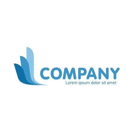 Logo abstrait de vecteur. Tourisme et voyage Identité de l'entreprise Icône isolé sur fond blanc. Conception graphique modifiable pour votre design.