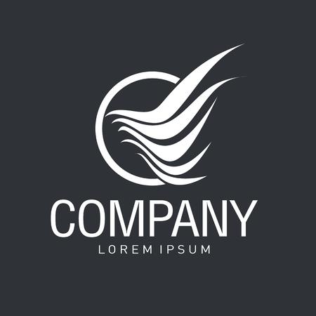 Vector resumen logo. Turismo y los viajes. identidad de la compañía. Icono aisladas sobre fondo blanco. Gráfico editable diseño para su diseño.
