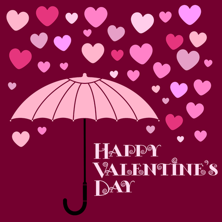 Vector illustration ard Happy Valentine s Day. Love heart. Background With Hearts. Web graphics, banners, advertisements, stickers, labels, business templates. On a color background