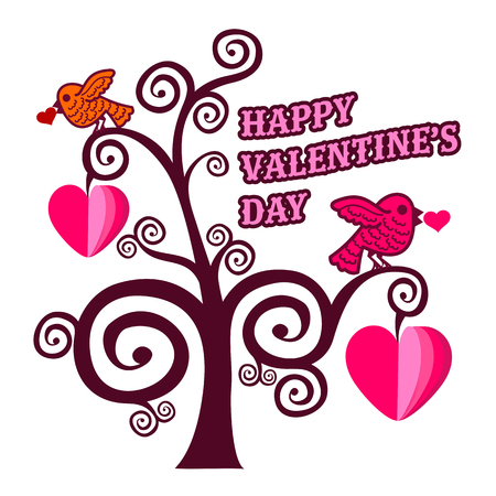 Vector illustration ard Happy Valentine s Day. Love heart. Background With Hearts. Web graphics, banners, advertisements, stickers, labels, business templates. Isolated on a white background
