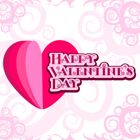 ard: Vector illustration ard Happy Valentine s Day. Love heart. Background With Hearts. Web graphics, banners, advertisements, stickers, labels, business templates. Isolated on a white background