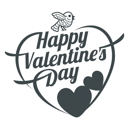 Vector illustration ard Happy Valentine s Day. Love heart. Background With Hearts. Web graphics, banners, advertisements, stickers, labels, business templates. Isolated on a white background Vetores