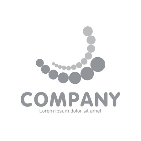 Vector abstract logo. Business Icons. Company identity. Icon isolated on white background. Graphic design editable for your design.