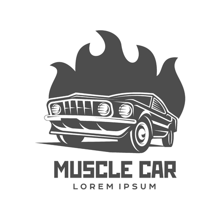 Abstract vector muscle car label and logo template retro car abstract vector muscle car label and logo template retro car symbol silhouette vintage car reheart Image collections