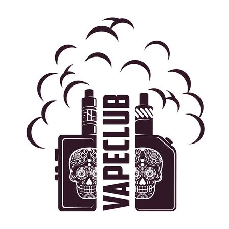 Vape, e-cigarette emblems, labels and prints.
