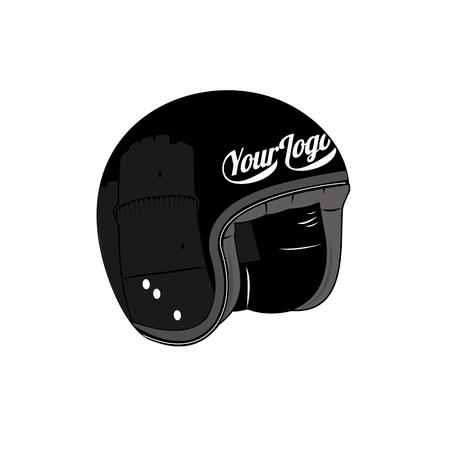 Ilustração do vetor da scooter vintage. Emblemas e rótulos. Scooter meios populares de transporte em uma cidade moderna. Anúncios, brochuras, modelos de negócios. Isolado em um fundo branco