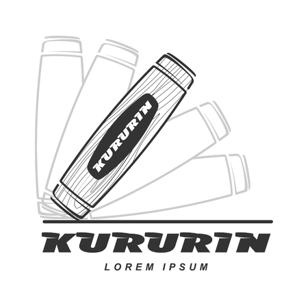 an alloy: Kururin logo vector illustration. Traditional Japanese hand toy kururin. Hand tricks. Badges, labels, banners, brochures, business templates. Vector illustration isolated on white background Illustration