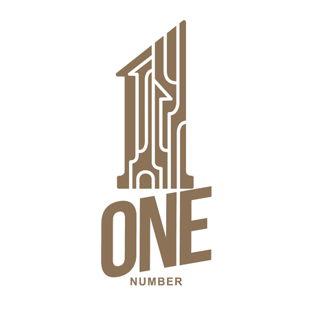 first house: Set of number one logo templates. Two colors graphic number one logo templates, corporate identity. , vector illustrations isolated on white background. Illustration