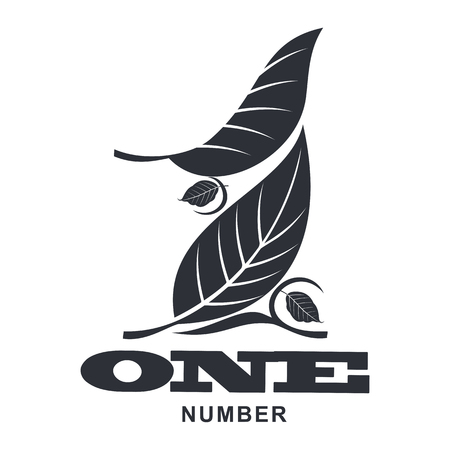 first house: Number one icon templates. Full colors graphic number one icon templates, corporate identity.