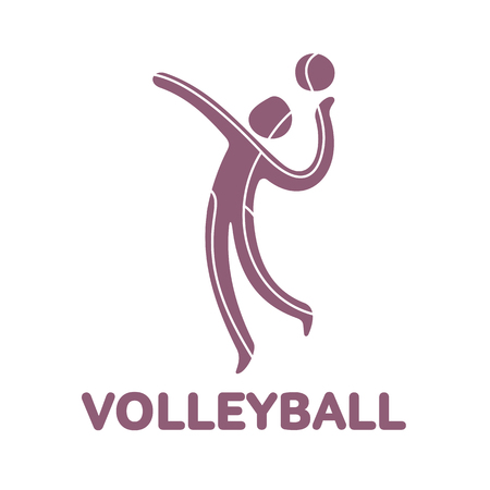 Volleyball sport game competition icon. Summer sport games symbols. Vector sport pictogram. Branding Identity Corporate  design template. Vector illustration isolated on a white background Illustration