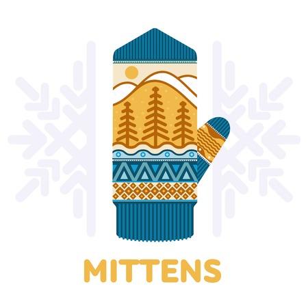 Winter mittens illustrations Illustration