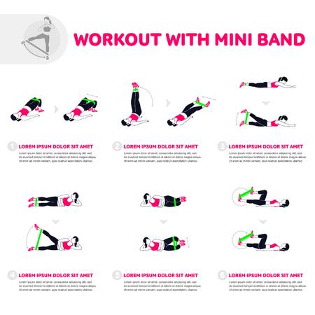 Fitness, exercícios aeróbicos e de treino no ginásio. Conjunto de vetores de ícones de ginásio em estilo simples, isolado no fundo branco. Pessoas no ginásio. Equipamento de ginástica.
